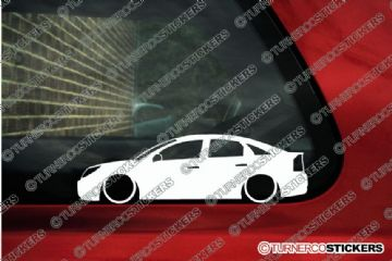 2x LOW Vauxhall / Opel Vectra C (2005-2008 ) facelift silhouette stickers, Decals
